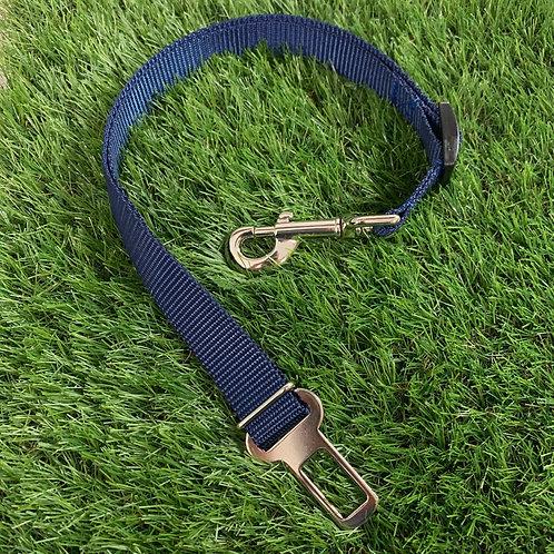 Pet Adjustable Seat Belt, Nautical Blue