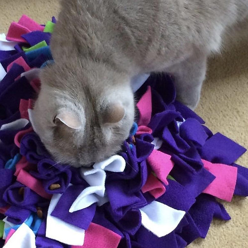 Snuffle Mat Treat Puzzle Cat Toy