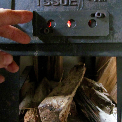 Changing the vent to either make the fire burn quicly or slowly