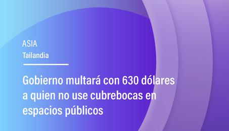Gobierno multará con 630 dólares a quien no use cubrebocas en espacios públicos