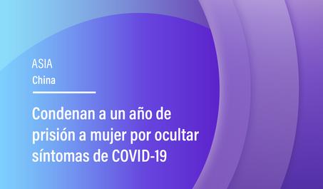 Condenan a un año de prisión a mujer por ocultar síntomas de COVID-19