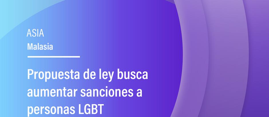 Propuesta de ley busca aumentar sanciones a personas LGBT
