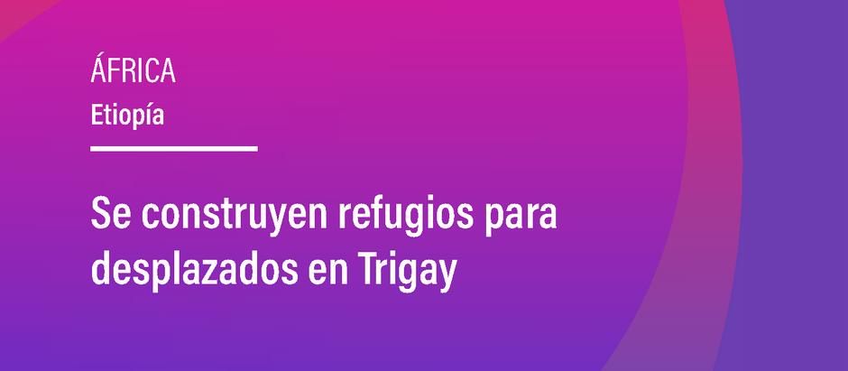 Se construyen refugios para desplazados en Trigay