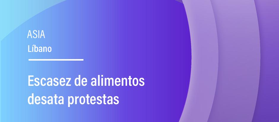 Escasez de alimentos desata protestas