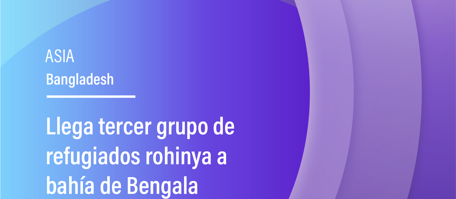 Llega tercer grupo de refugiados rohinya a bahía de Bengala