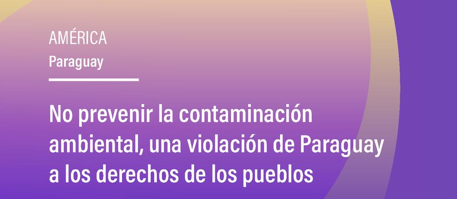 No prevenir la contaminación ambiental, una violación de Paraguay a los derechos de los pueblos indí