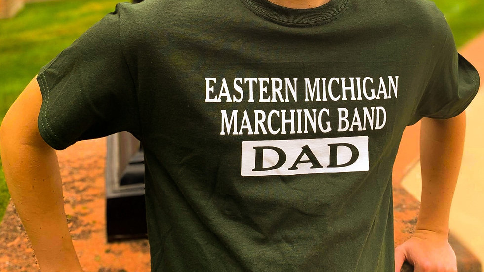EMU Marching Band DAD T-shirt (Green)