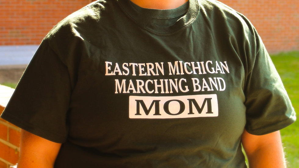 EMU Marching Band MOM T-shirt (Green)