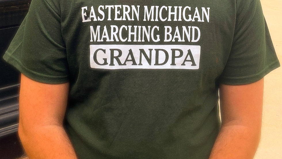 EMU Marching Band GRANDPA T-shirt (Green)