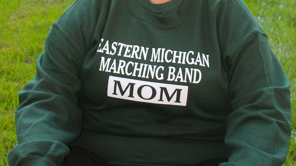 EMU Marching Band MOM Sweatshirt (Green)