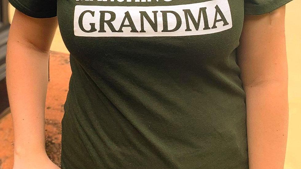 EMU Marching Band GRANDMA T-shirt (Green)