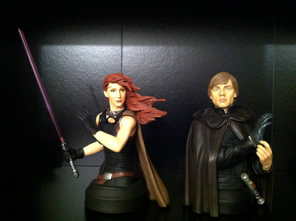 Mara Jade Skywalker with Luke