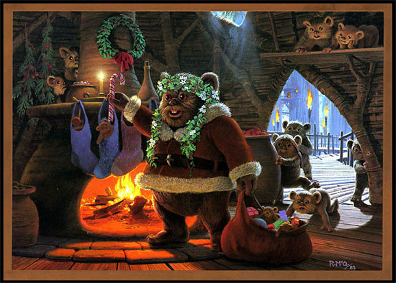 Holiday Card - 1983 by Ralph McQuar