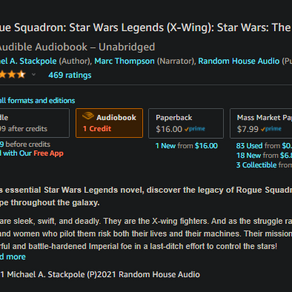 X-Wing Rogue Squadron unabridged audiobook now available for pre order