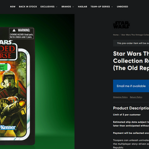 Hasbro Republic Trooper fan poll winner pre orders sell out in less than an hour!