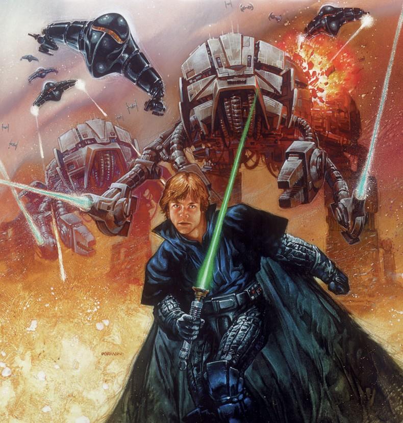 Luke Skywalker in his father's armor
