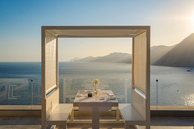 Now this is what we call private dining with a view of the Amalfi Coast