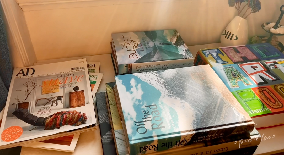 Many inspiring coffee table books at our Creative Space