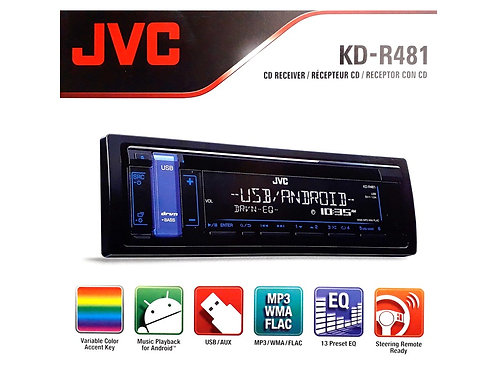 KD-R481 JVC CD USB ANDRIOD PLAYER