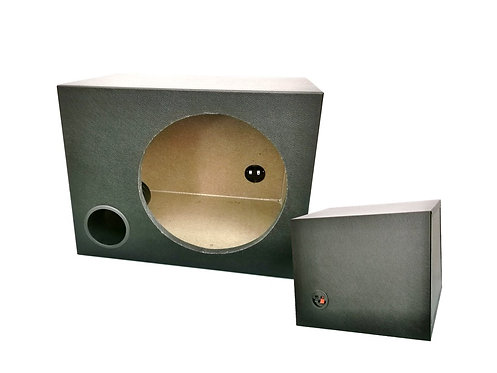 10'' ROUND 3/4'' - TICK SINGLE WOOFER BOX (PVC)