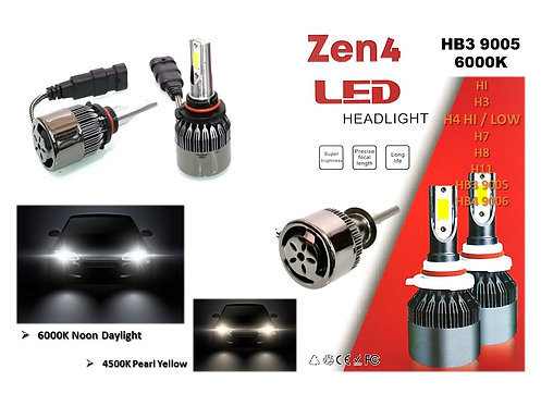 9005 6000K DAYLIGHT ZEN4 36W LED HEADLIGHT Hb3 Super Brightness design