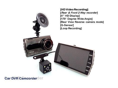 WDR 4'' FULL HD FRONT & REAR CAR DVR CAMCORDER