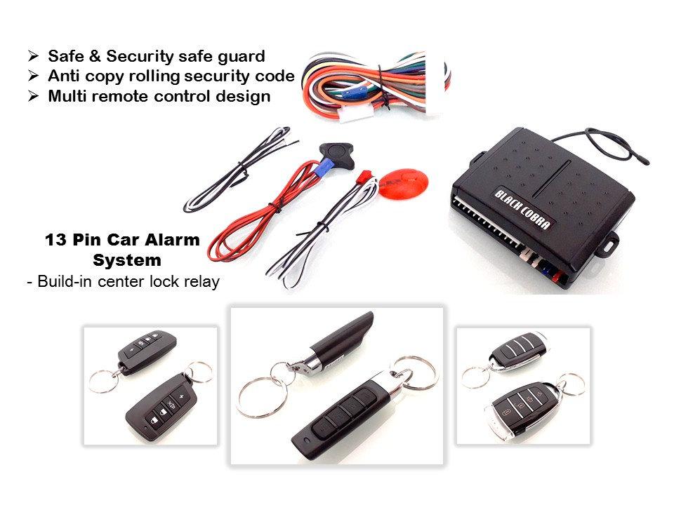 13 Pin Black Cobra Car Alarm Half Set Mx1 Threekcaraccessories