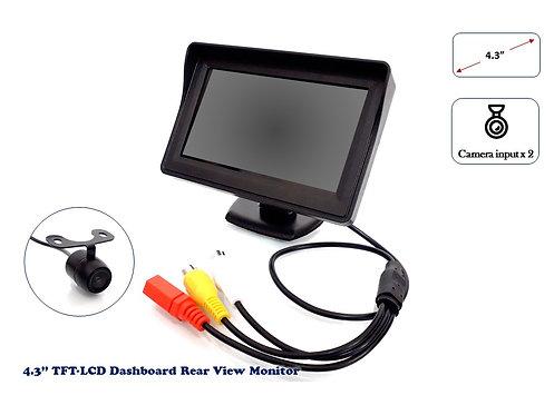 TKC TFT LCD 4.3'' REAR VIEW DASHBOARD MONITOR