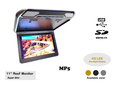 11.1'' HD LED USB SD HDMI-IN MP5 ROOF MONITOR