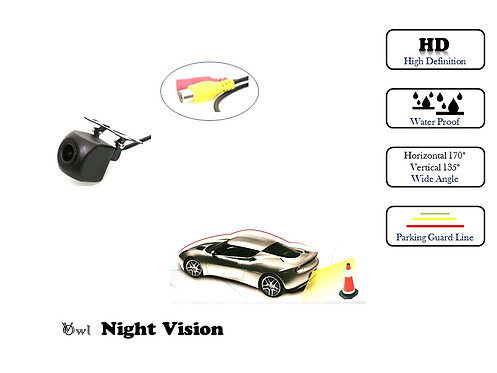 TKC NIGHT VISION FRONT & REAR VIEW REVERSE CAMERA Water proof Wide angle Square