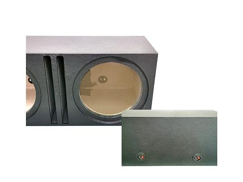 12'' SQUARE 3/4'' - TICK DOUBLE WOOFER BOX (PVC)