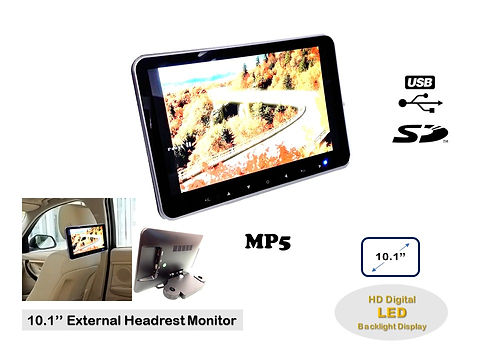10.1'' HD LED USB SD MP5 EXTERNAL HEADREST MONITOR