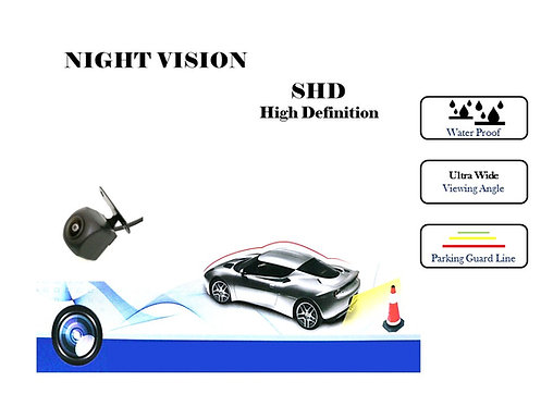 TKC SHD 170 NIGHT VISION REAR VIEW REVERSE CAMERA 170D Ultra wide angle Square