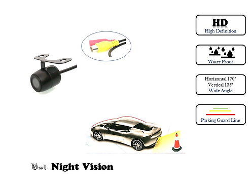 TKC NIGHT VISION FRONT & REAR VIEW REVERSE CAMERA Water proof Wide angle Round