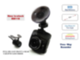 FULL HD 1080P FRONT & REAR CAR DVR CAMCORDER
