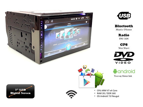 TKC 6.95'' DVD USB ANDROID GPS DOUBLE DIN PLAYER