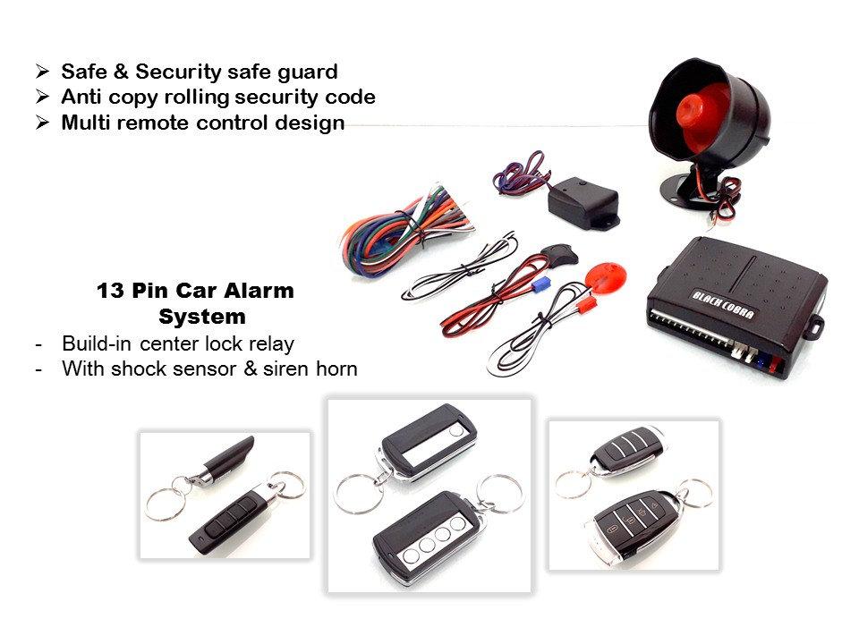 13 Pin Black Cobra Car Alarm Full Set Mx2 Threekcaraccessories