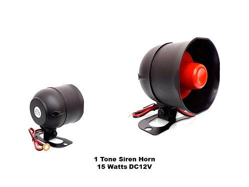 1 TONE 15W DC12V CAR ALARM SIREN HORN (RED)