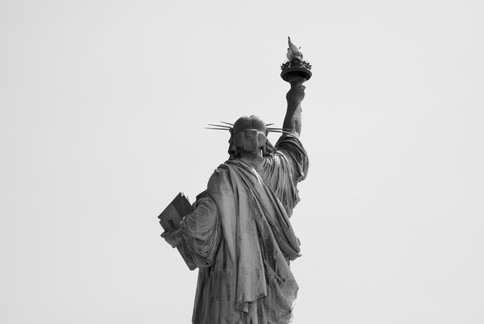 Rear View of the Statue of Liberty