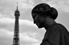 La tour Eiffel depuis les jardins du Trocadéro