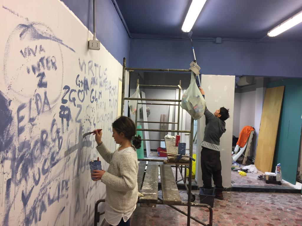 La Graffitara e l'Imbianchina