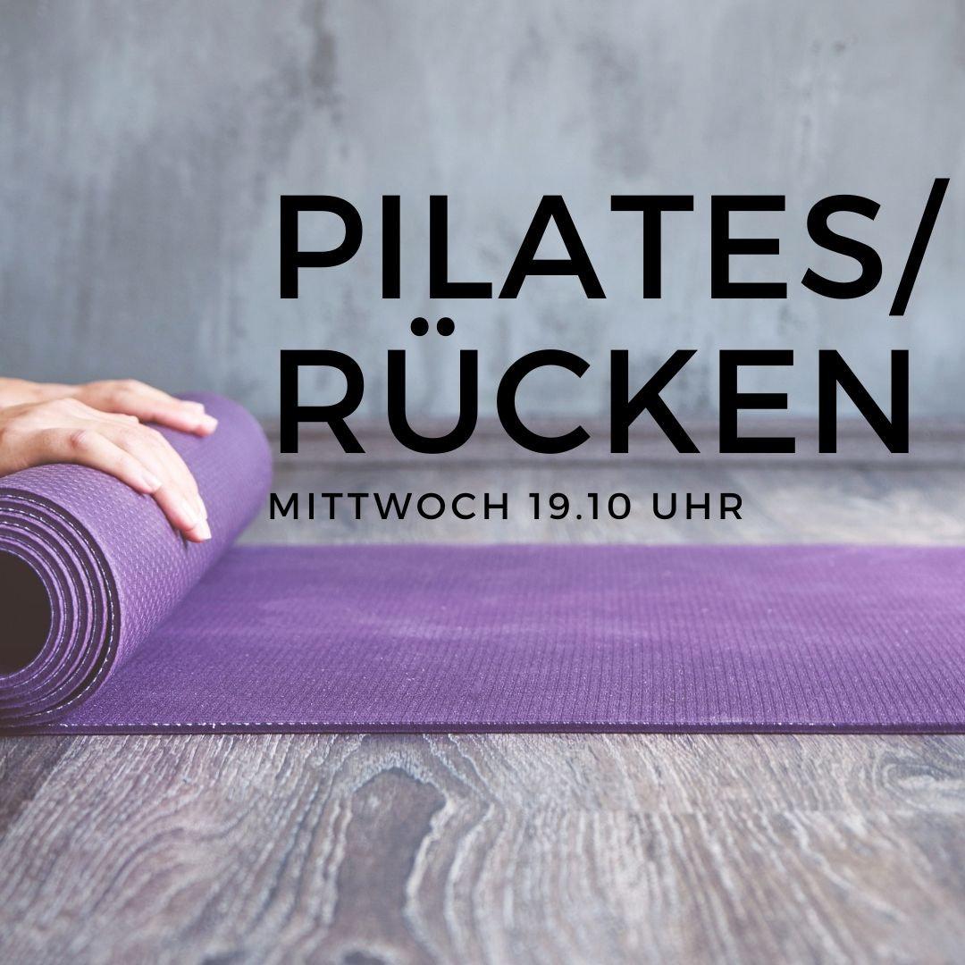 Pilates/Rücken Mittwoch 19.10 Uhr