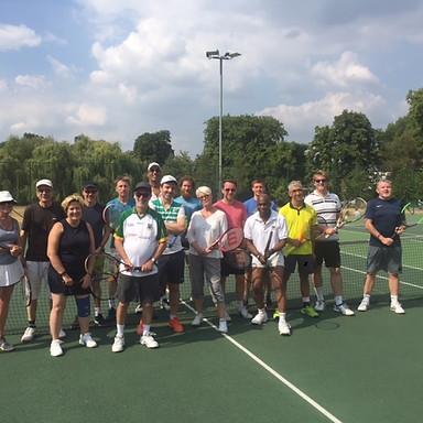 Adult Social Tennis at Clissold Park, Saturdays 2-4 pm, Thursdays 7-9 pm.