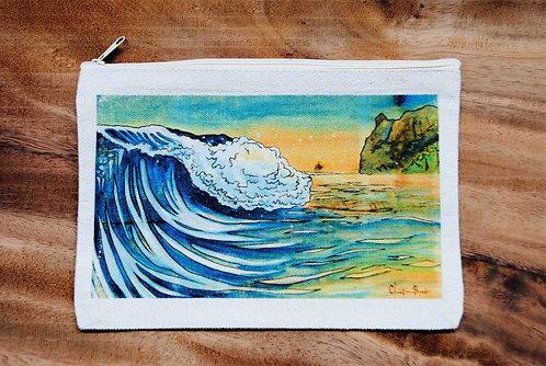 Canvas Pouch- Wave