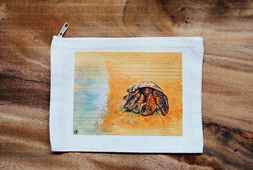 Canvas Pouch- Crabbie