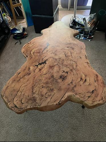 Eucalyptus table with resin inlay
