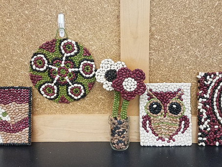 Get Crafty With Easy-To-Make Bean Mosaics