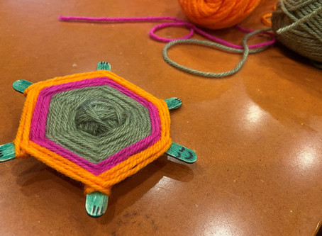 Make A Cute Turtle Companion Out Of Yarn And Popsicle Sticks