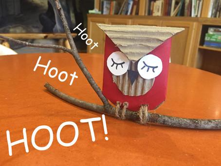 Whooo Wants To Create Their Own Cardboard Owl?
