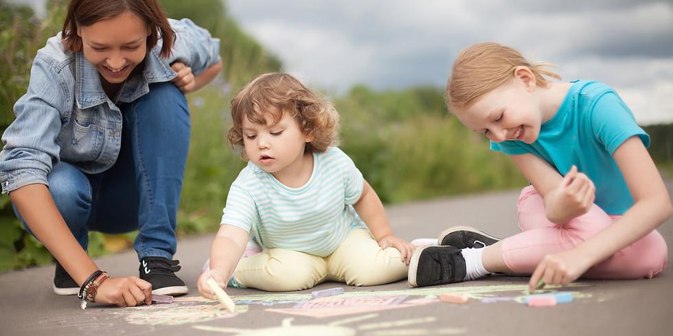Sidewalk Chalk Challenge Kickoff